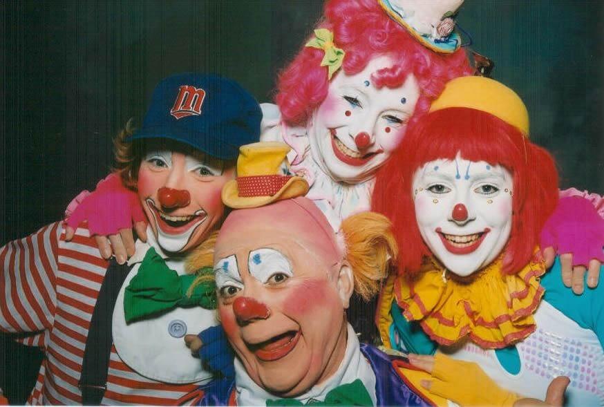 clowns in art