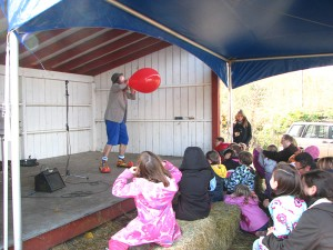 Poco the clown at Old Field orchard