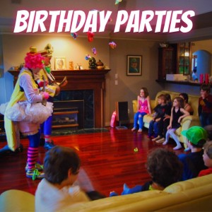 Clown Birthdya parties Victoria BC, Gulf Islands, Vancouver, Nanaimo, Parksville